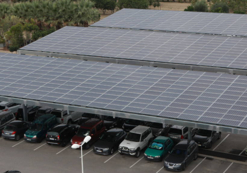 3 ombrières photovoltaïques